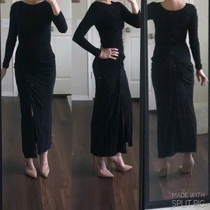 Badgley Mischka black long sleeve formal dress